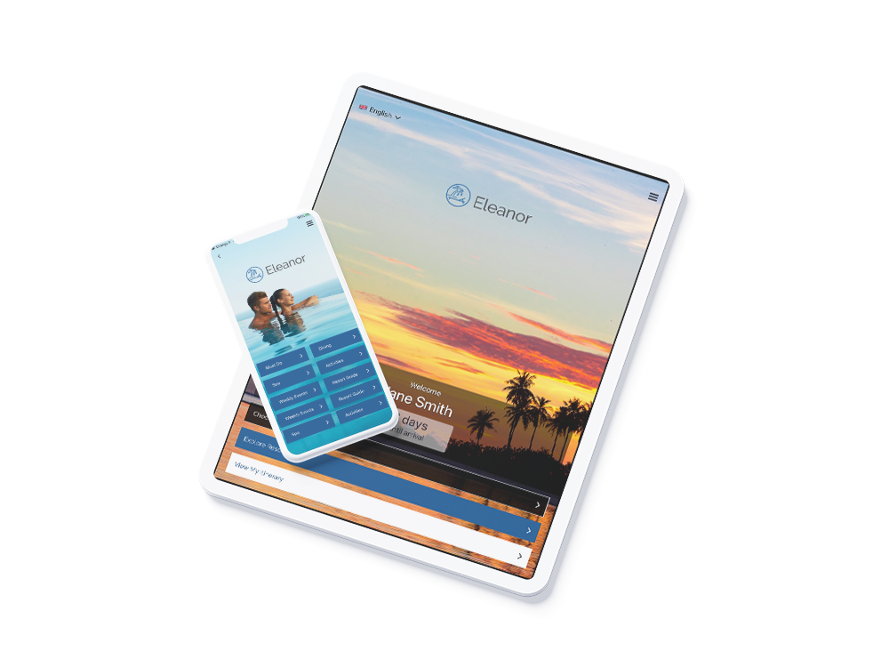 Resort branded guest mobile app