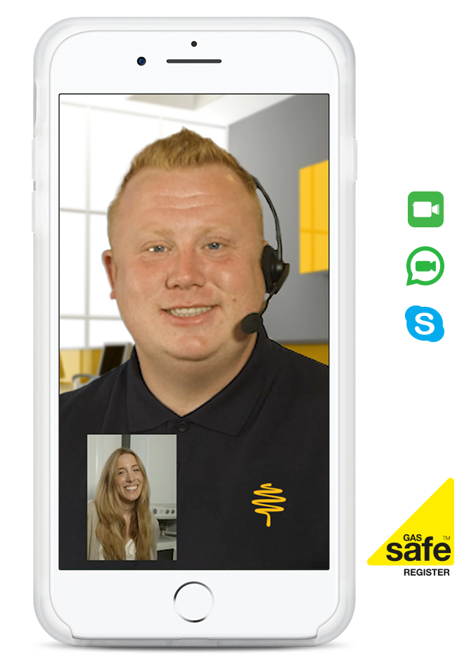 Hometree's video call option allowing you to connect with an engineer