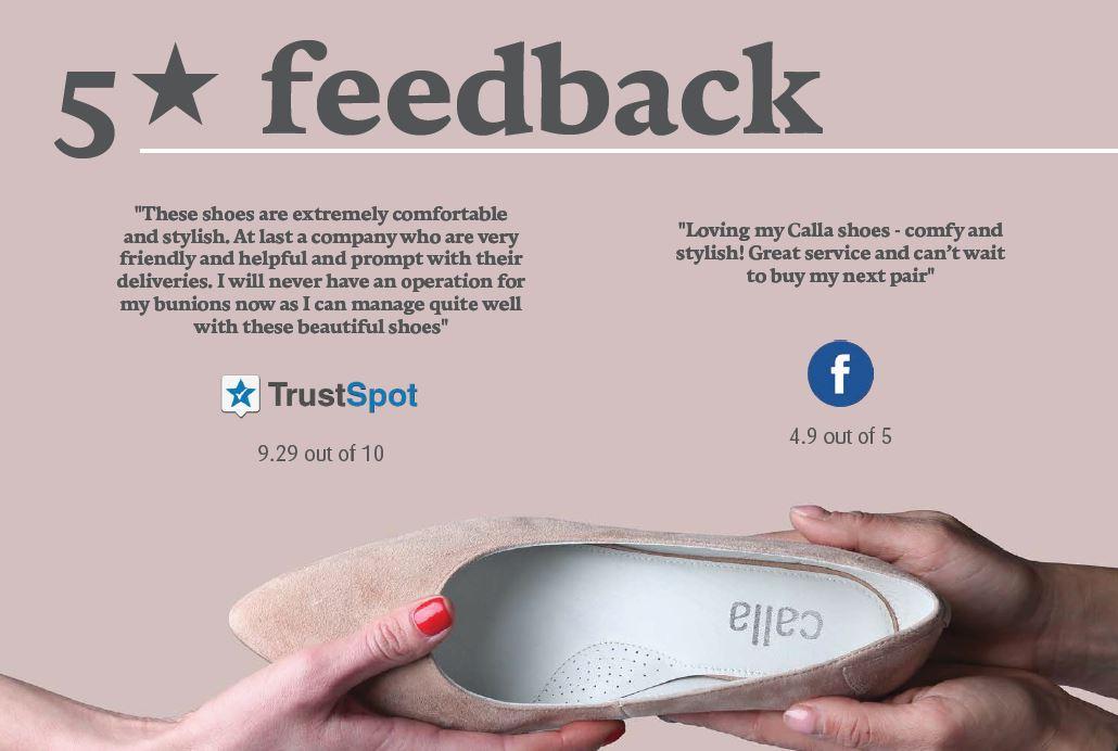 customer feedback - Calla Shoes
