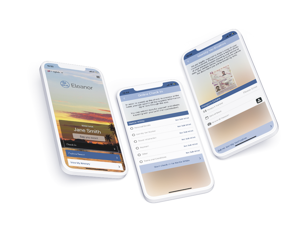 Contactless check in for guests via the resort branded mobile app
