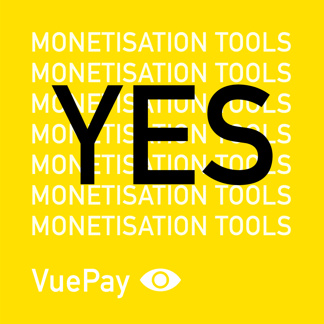 VuePay provides content creators with a range of monetisation tools